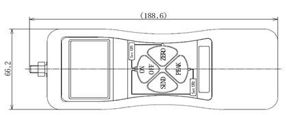 DS2系列外置传感器推拉力计结构尺寸图1