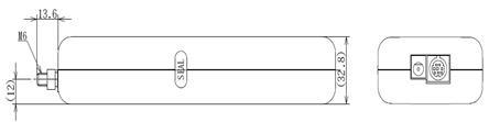 DS2系列外置传感器推拉力计结构尺寸图2