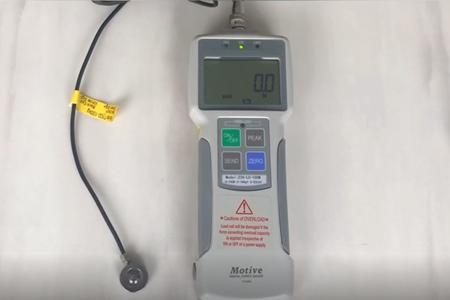 拓码电子向我司购买量程500N的单向压缩测试推拉力计用于测试电子元器件