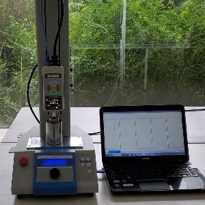 一诺MTA推拉力计配合电动机台用于测试上海西渥公司簧片